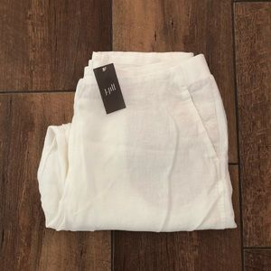 J. Jill White Linen Ankle Pants NEW